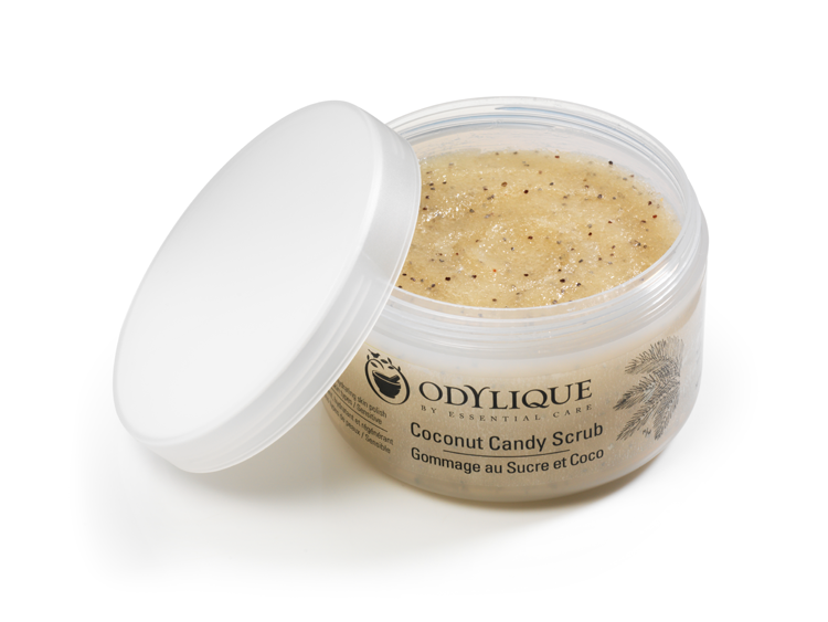 odylique coconut candy scrub, 6 best body scrubs without microbeads by healthista