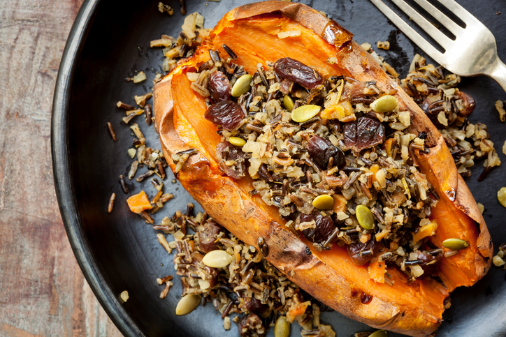 sweet potato, 6 best healthy lunch swaps for a nourishing midday meal by healthista