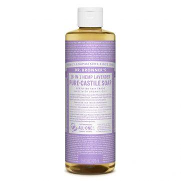 Dr. Bronner organic lavender castile liquid soap healthista shop