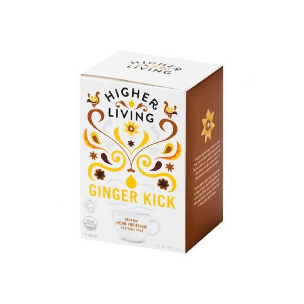 Higher Living Ginger Kick Tea Healthista Shop Web