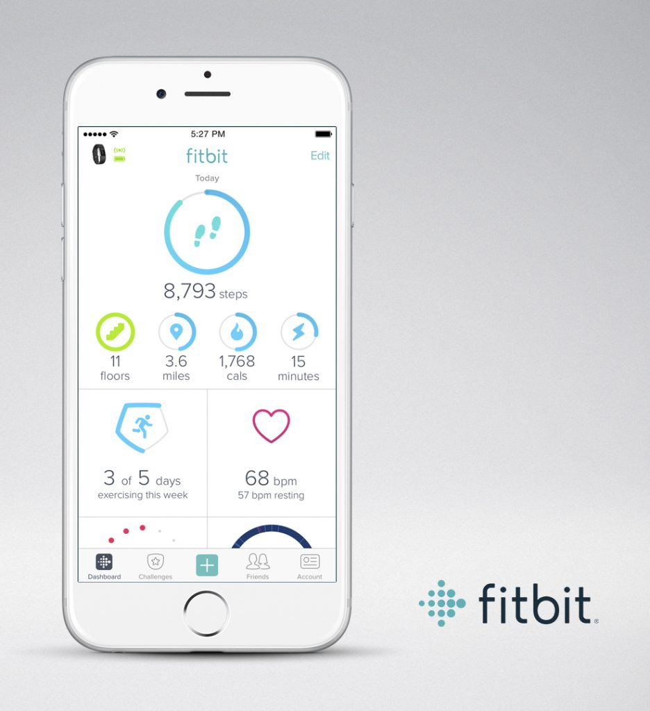best fitness trackers. Fitbit. Healthista