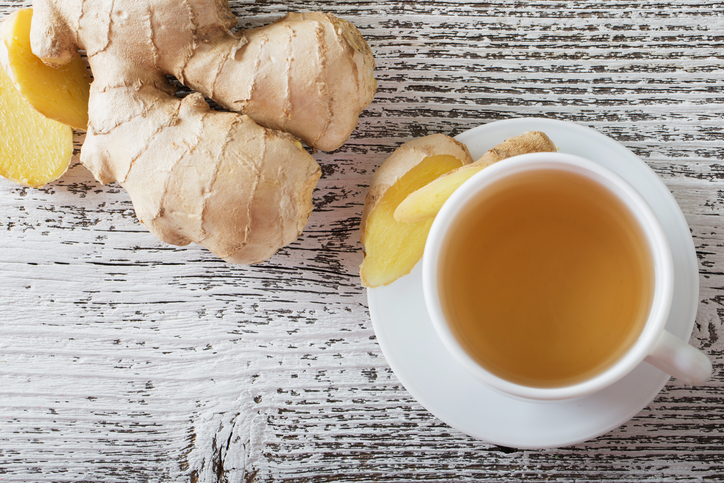 ginger tea, 8 best fat burning foods by healthista