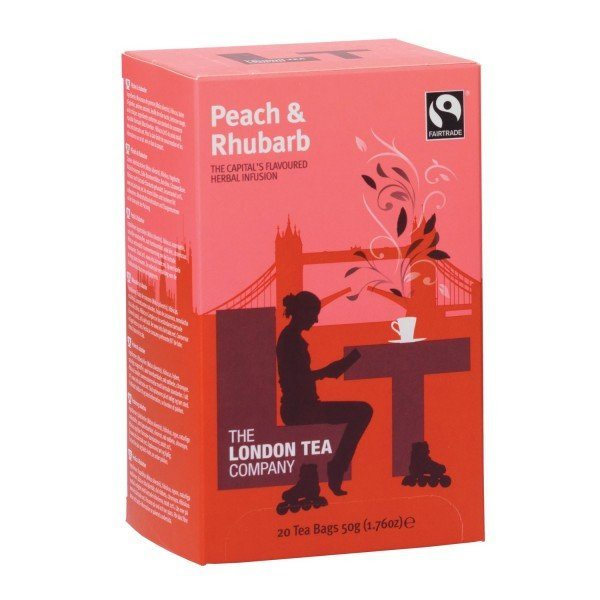 london tea company peach and rhubarb, best fairtrade foods, by healthista.com