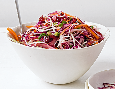coleslaw featured, Meat-free Monday recipes coleslaw with cranberries and maple syrup by healthista