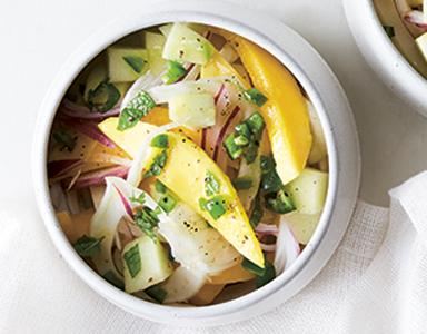 mango chilli featured, meat-free Monday recipe chilli and mango bowl healthista