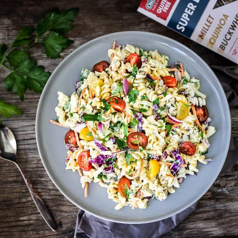 Orgran Vegan Pasta Salad, BEST pasta alternatives for gluten free, by healthista.com