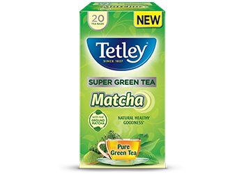 Tetley Super Green Tea Matcha, 9 best tasting green teas for beginners, by healthista.com