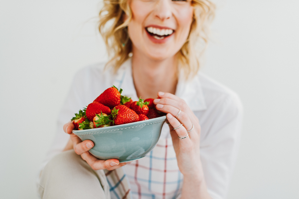 laughing with strawberries, food and mood how to eat to beat depression by healthista