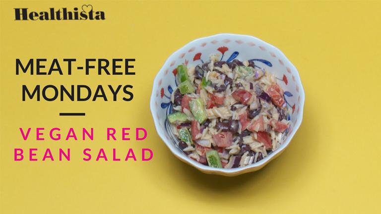 meat-free red bean main image, vegetarian week by healthista