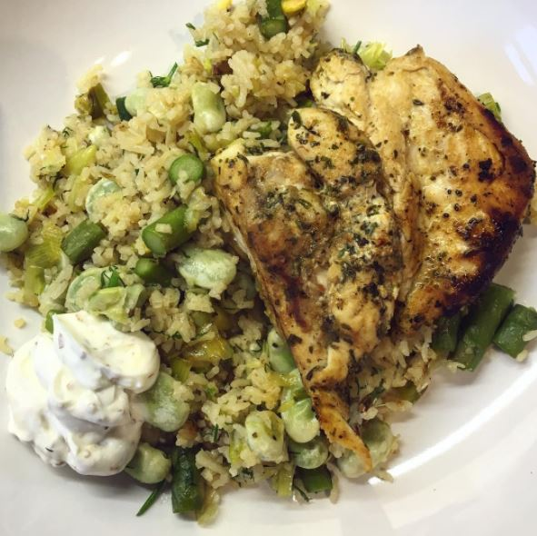 How to cook healthy for beginners, spring green pilaf, posh rice, by healthsita.com (3)