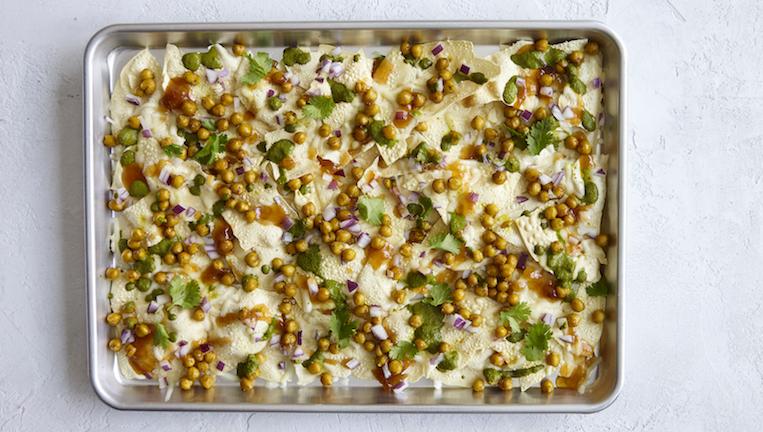 Indian Chickpea Nachos vegetarian recipe by healthista.com main
