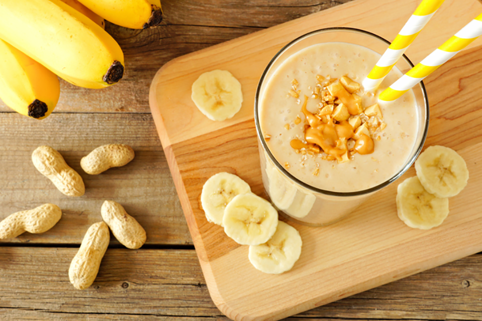 banana and peanut butter smoothie sugar-free diet diaries by healthista