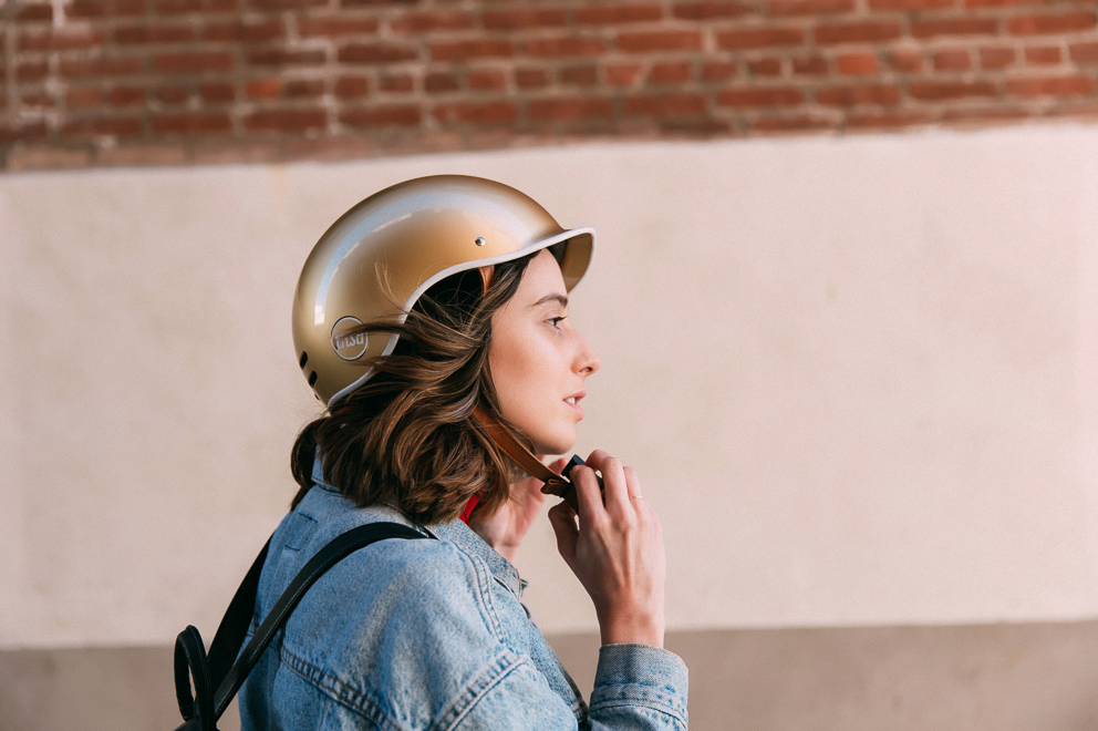 gold helmet KITSPIRATION The Cycling Store by healthista