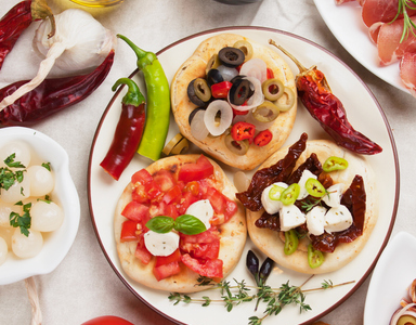mediterranean diet feat, Eating by colour the Mediterranean way by healthista