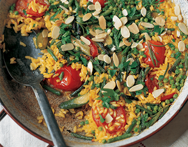 paella, meat-free monday recipe by healthista