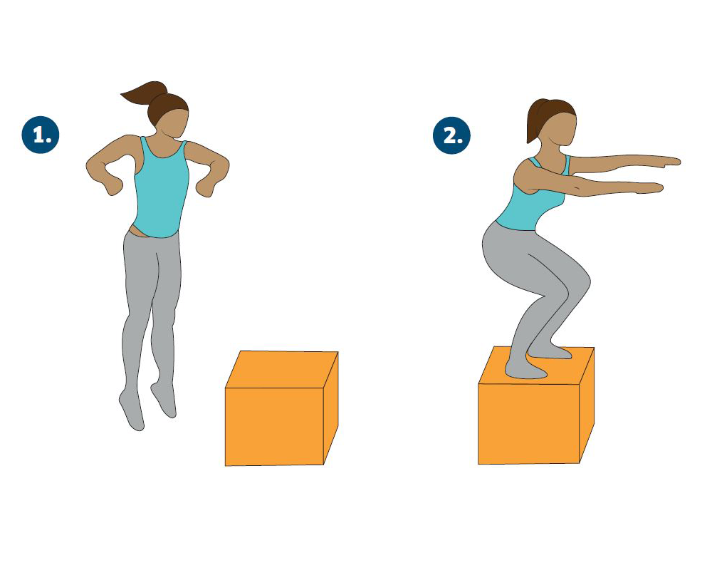 box jump, Katarina Johnson-Thompson's 45-minute athlete's workout for non-athletes by healthista
