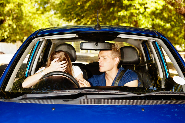 couple arguing in car, golden rules of fighting clean healthista