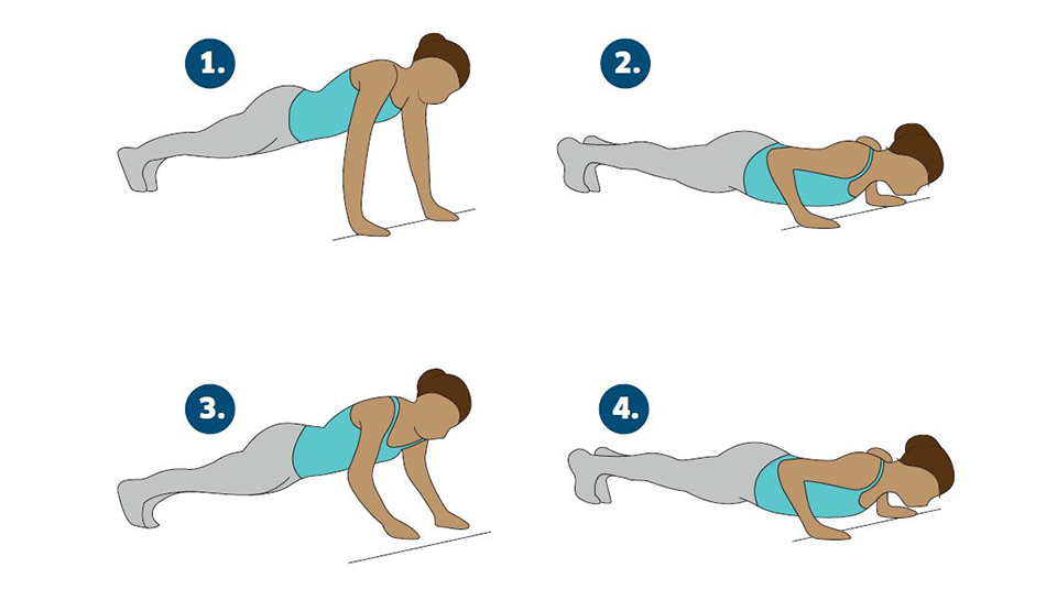power push ups, Katarina Johnson-Thompson's 45-minute athlete's workout for non-athletes by healthista