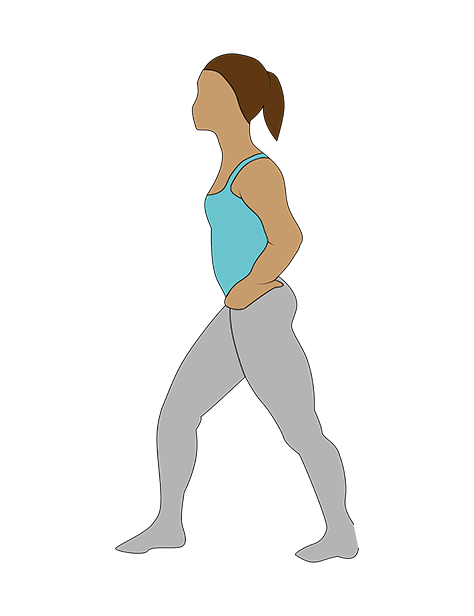quad stretch, Katarina Johnson-Thompson's workout for non-athletes by healthista