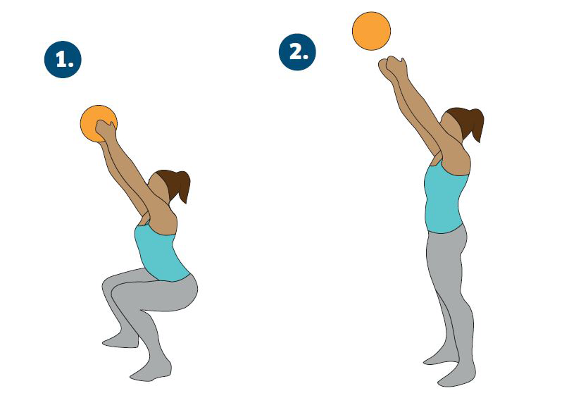 squat ball jump throw, Katarina Johnson-Thompson's 45-minute athlete's workout for non-athletes by healthista