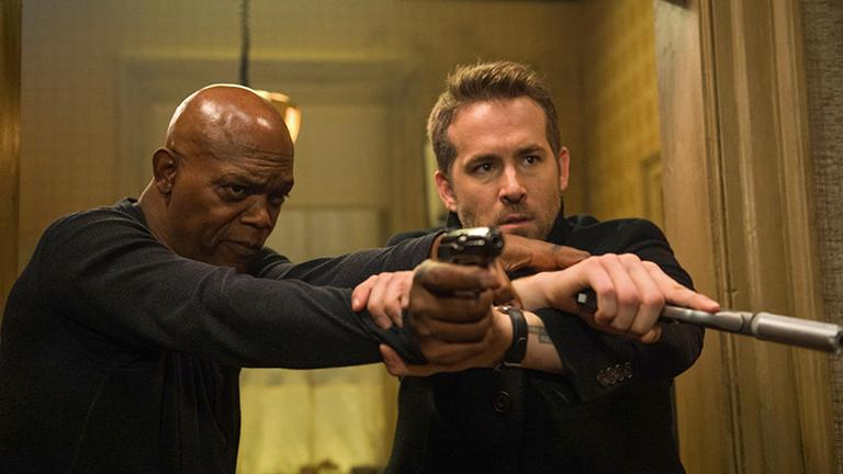 Samuel L Jackson, Ryan Reynolds Hitman's Bodyguard main, how does a bodyguard keep fit by healthista