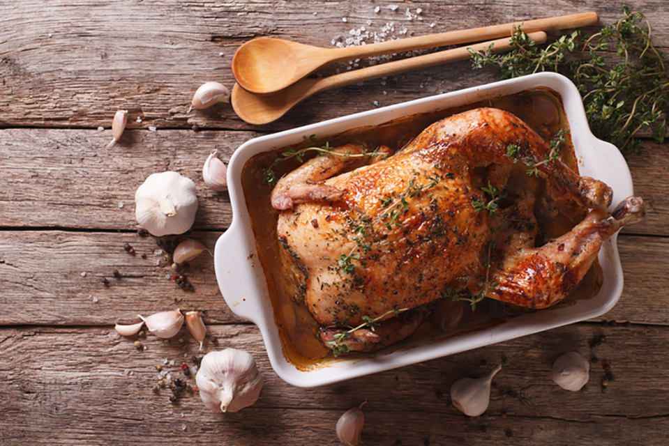 chicken roast, what an athlete eats in a day by healthista
