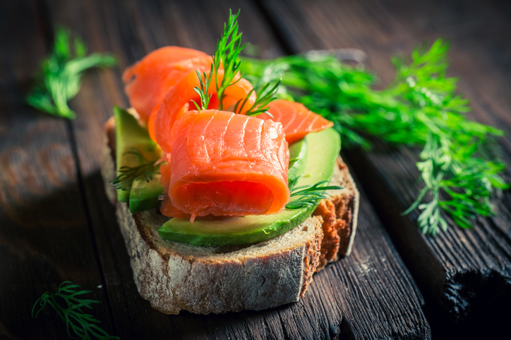 salmon avocado toast, what an athlete eats in a day by healthista