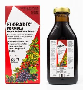 Floradix-Liquid-Iron-Formula-250ml, best supplements for people who exercise by healthista.com
