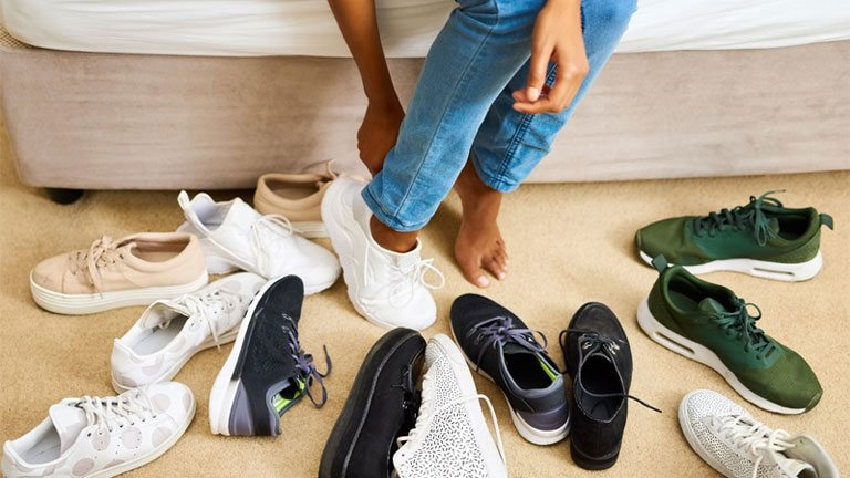 trainers-on-floor best trainers fashionable and functional from workout to post-work drinks by healthista