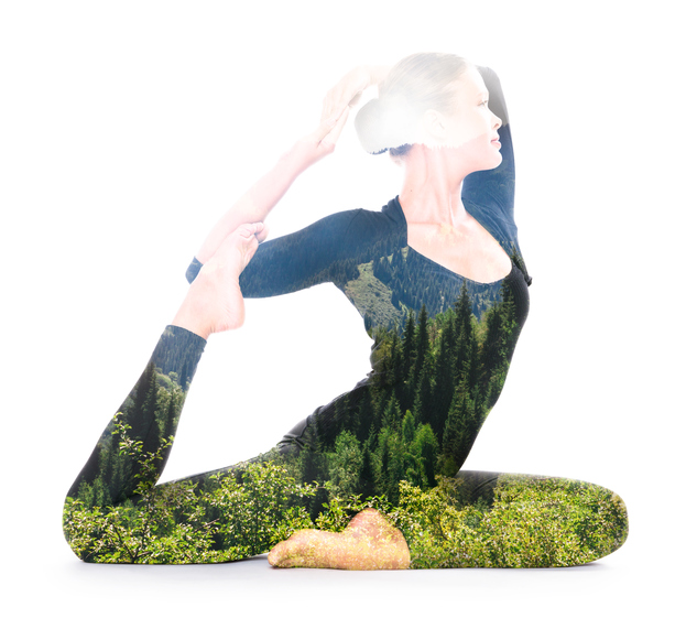 woman holding yoga pose, which style of yoga suits your personality by healthista