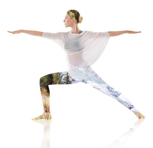 woman yoga pose warrior, which style of yoga suits your personality by healthista