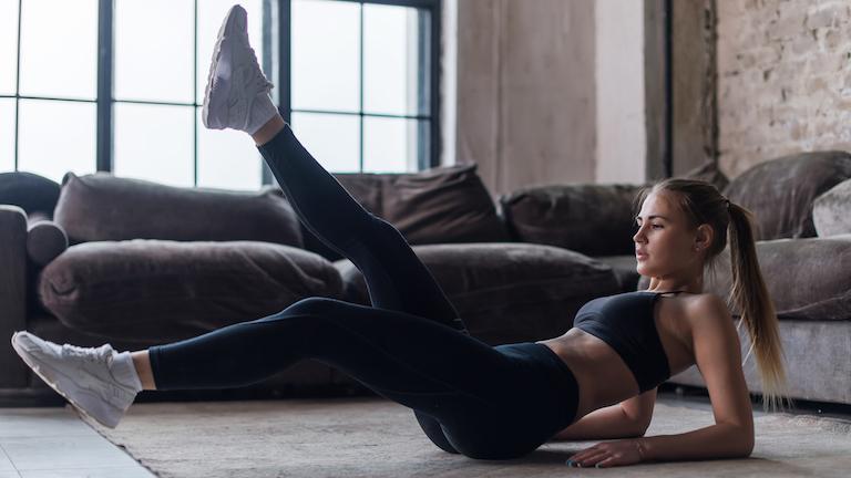 Leg raises post natal pilates workout healthista main
