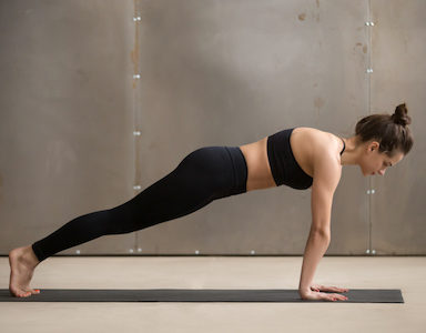 Plank position with row 30 day abs challenge day 26 healthista featured