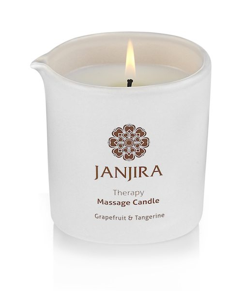 janjira grapefruit & tangerine candle to help you relax this autumn