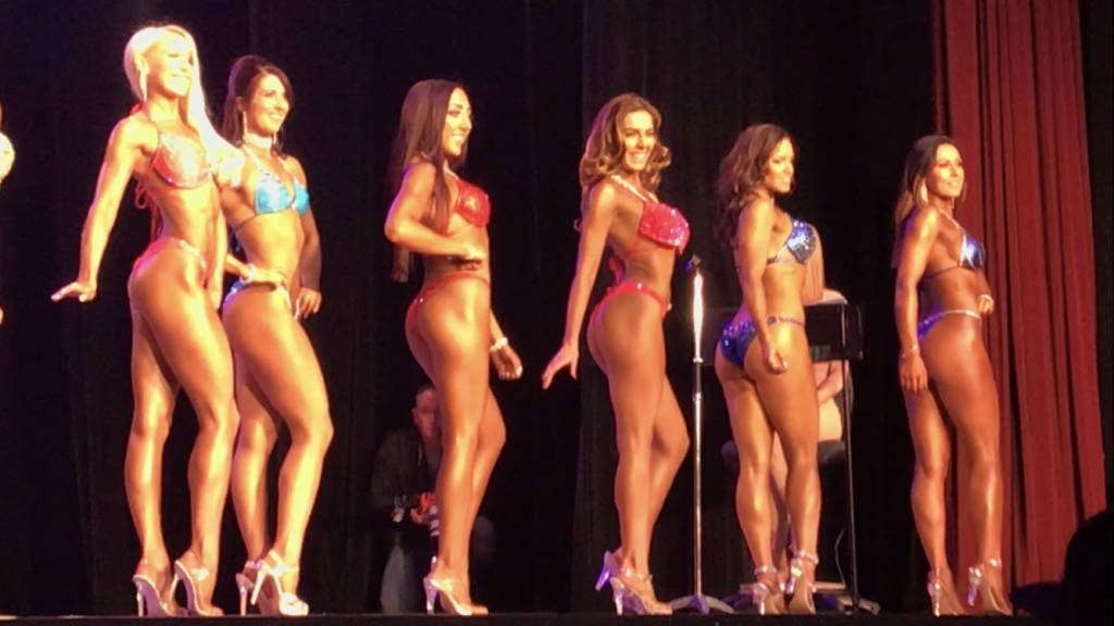 quarter turn to the right, bikini competition vicky hadley by healthista