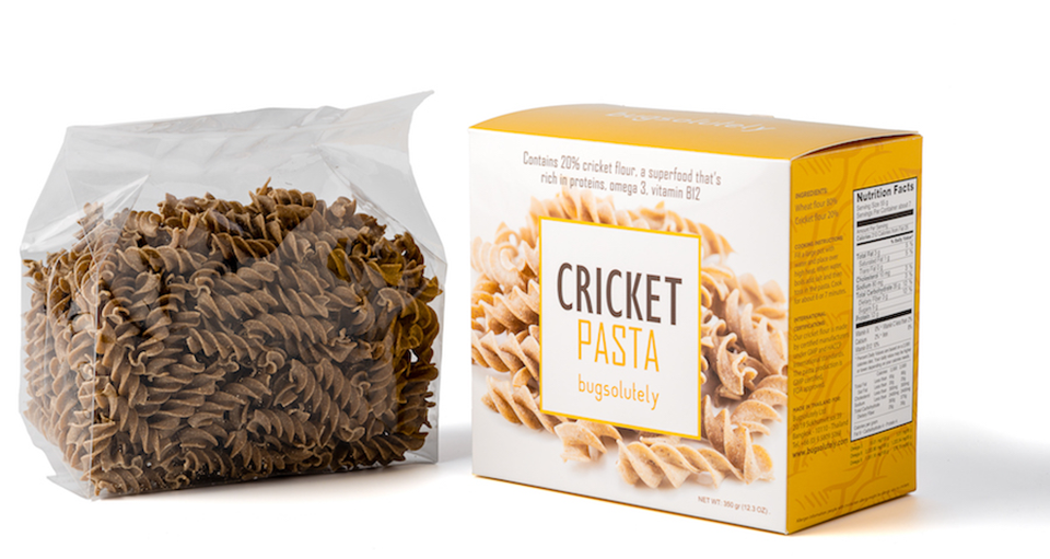 cricket pasta bugsolutely, best protein pastas by healthista
