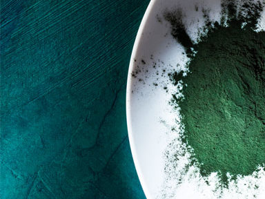 organic-spirulina-on-plate,-30-weight-loss-tips-in-30-days---#17-spirulina-by-healthista.com