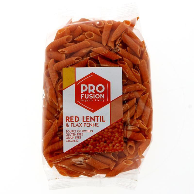 profusion red lentil and flax penne, best protein pasta by healthista