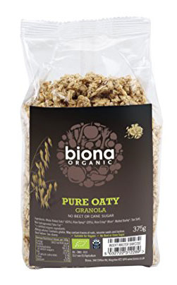 biona pure oaty, Best breakfast granolas that are shop-bought AND healthy, by healthista.com