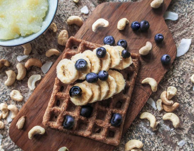 Quick-EASY-Buckwheat-Protein-waffles-with-Bueberries. FEATURE