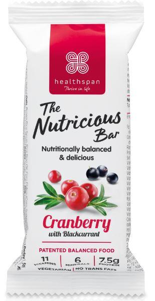 Nutrient dense Healthspan protein bar cranberry Healthista