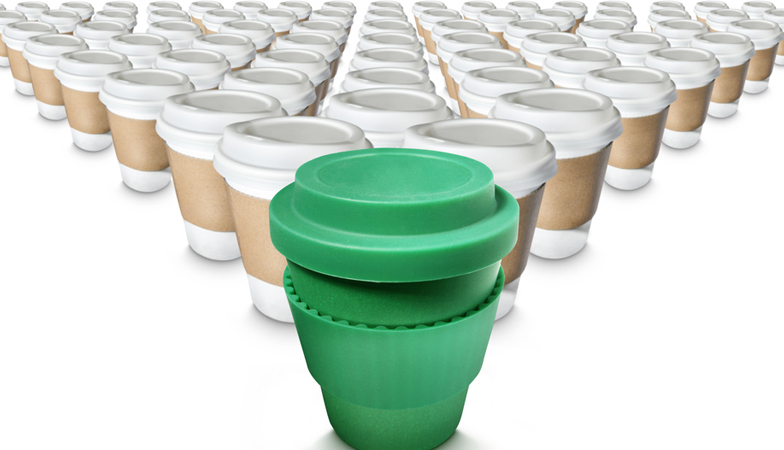 greenpeace plastic free july tips re-usable coffee cup Will McCallum Healthista