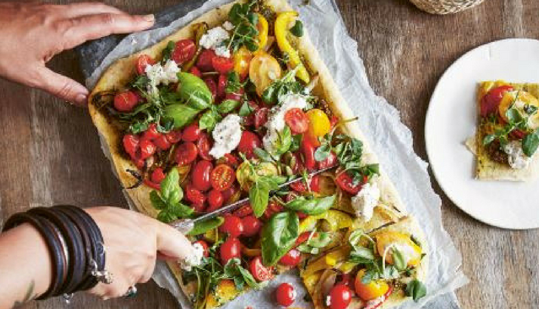 Mood food Happy food book Hazelnut crust pizza Bettina Campolucci Bordi Healthista