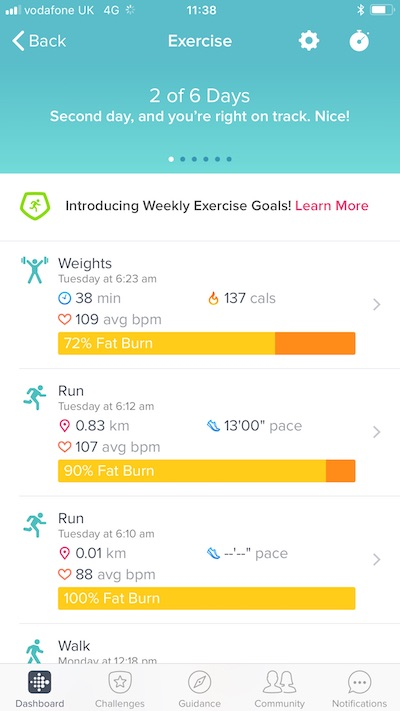 Fitbit morning routine healthista