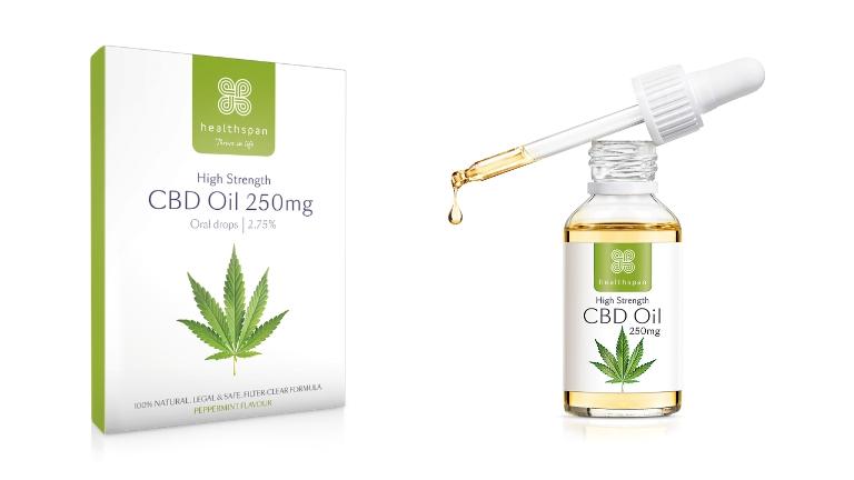 Healthspan CBD oil and capsules Xmas gift guide