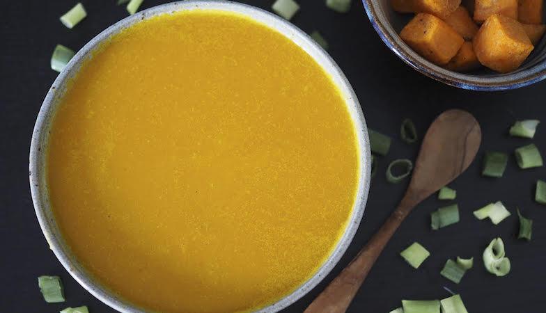 mood food diet, healthista, pumpkin coconut sweet potato soup