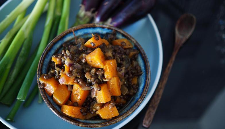 mood food diet, healthista, squash and lentil stew