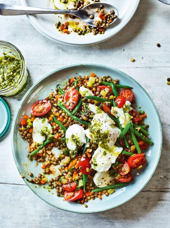 3 healthy recipes we love from Gemma Atkinson's new cookbook Gemma Atkinson Lentil and mozarella salad