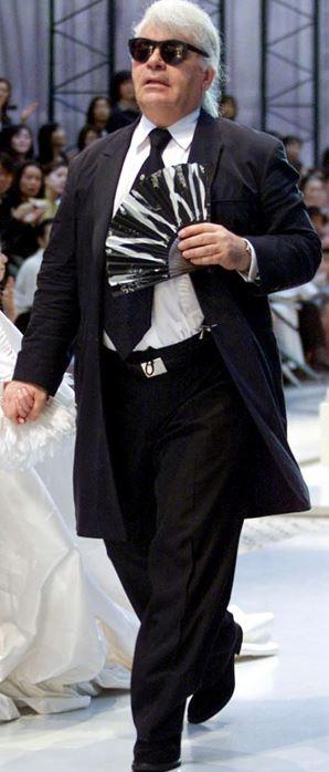 Karl Lagerfeld before diet
