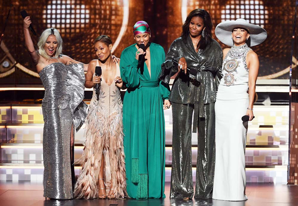 7 hottest Grammy bodies-Michelle-Obama-Grammys